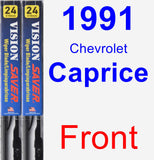 Front Wiper Blade Pack for 1991 Chevrolet Caprice - Vision Saver