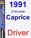Driver Wiper Blade for 1991 Chevrolet Caprice - Vision Saver