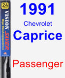 Passenger Wiper Blade for 1991 Chevrolet Caprice - Vision Saver