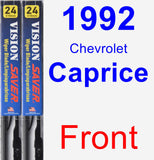 Front Wiper Blade Pack for 1992 Chevrolet Caprice - Vision Saver