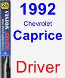 Driver Wiper Blade for 1992 Chevrolet Caprice - Vision Saver