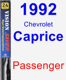 Passenger Wiper Blade for 1992 Chevrolet Caprice - Vision Saver