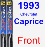 Front Wiper Blade Pack for 1993 Chevrolet Caprice - Vision Saver