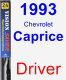 Driver Wiper Blade for 1993 Chevrolet Caprice - Vision Saver