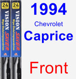 Front Wiper Blade Pack for 1994 Chevrolet Caprice - Vision Saver