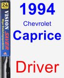 Driver Wiper Blade for 1994 Chevrolet Caprice - Vision Saver