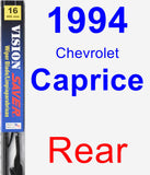 Rear Wiper Blade for 1994 Chevrolet Caprice - Vision Saver