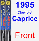 Front Wiper Blade Pack for 1995 Chevrolet Caprice - Vision Saver