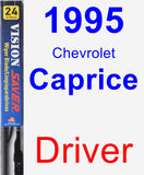 Driver Wiper Blade for 1995 Chevrolet Caprice - Vision Saver
