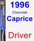 Driver Wiper Blade for 1996 Chevrolet Caprice - Vision Saver