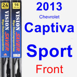 Front Wiper Blade Pack for 2013 Chevrolet Captiva Sport - Vision Saver