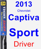 Driver Wiper Blade for 2013 Chevrolet Captiva Sport - Vision Saver