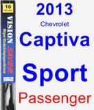 Passenger Wiper Blade for 2013 Chevrolet Captiva Sport - Vision Saver