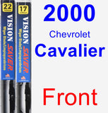 Front Wiper Blade Pack for 2000 Chevrolet Cavalier - Vision Saver