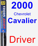 Driver Wiper Blade for 2000 Chevrolet Cavalier - Vision Saver