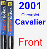 Front Wiper Blade Pack for 2001 Chevrolet Cavalier - Vision Saver