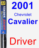 Driver Wiper Blade for 2001 Chevrolet Cavalier - Vision Saver