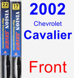Front Wiper Blade Pack for 2002 Chevrolet Cavalier - Vision Saver