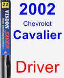 Driver Wiper Blade for 2002 Chevrolet Cavalier - Vision Saver