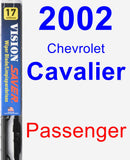Passenger Wiper Blade for 2002 Chevrolet Cavalier - Vision Saver