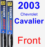 Front Wiper Blade Pack for 2003 Chevrolet Cavalier - Vision Saver