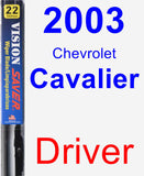 Driver Wiper Blade for 2003 Chevrolet Cavalier - Vision Saver