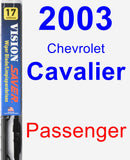 Passenger Wiper Blade for 2003 Chevrolet Cavalier - Vision Saver