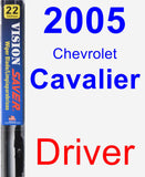 Driver Wiper Blade for 2005 Chevrolet Cavalier - Vision Saver