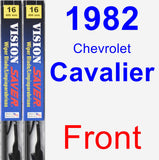 Front Wiper Blade Pack for 1982 Chevrolet Cavalier - Vision Saver