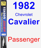 Passenger Wiper Blade for 1982 Chevrolet Cavalier - Vision Saver