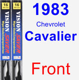 Front Wiper Blade Pack for 1983 Chevrolet Cavalier - Vision Saver
