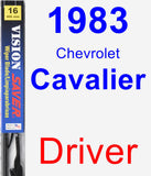 Driver Wiper Blade for 1983 Chevrolet Cavalier - Vision Saver
