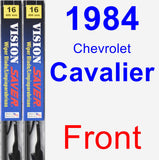 Front Wiper Blade Pack for 1984 Chevrolet Cavalier - Vision Saver