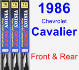 Front & Rear Wiper Blade Pack for 1986 Chevrolet Cavalier - Vision Saver