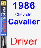 Driver Wiper Blade for 1986 Chevrolet Cavalier - Vision Saver