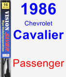 Passenger Wiper Blade for 1986 Chevrolet Cavalier - Vision Saver