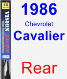 Rear Wiper Blade for 1986 Chevrolet Cavalier - Vision Saver