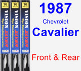 Front & Rear Wiper Blade Pack for 1987 Chevrolet Cavalier - Vision Saver