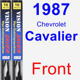 Front Wiper Blade Pack for 1987 Chevrolet Cavalier - Vision Saver