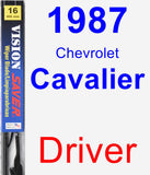 Driver Wiper Blade for 1987 Chevrolet Cavalier - Vision Saver