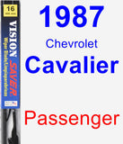 Passenger Wiper Blade for 1987 Chevrolet Cavalier - Vision Saver