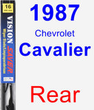 Rear Wiper Blade for 1987 Chevrolet Cavalier - Vision Saver