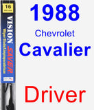Driver Wiper Blade for 1988 Chevrolet Cavalier - Vision Saver