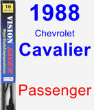 Passenger Wiper Blade for 1988 Chevrolet Cavalier - Vision Saver