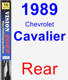 Rear Wiper Blade for 1989 Chevrolet Cavalier - Vision Saver