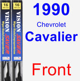 Front Wiper Blade Pack for 1990 Chevrolet Cavalier - Vision Saver