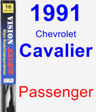 Passenger Wiper Blade for 1991 Chevrolet Cavalier - Vision Saver