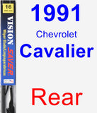 Rear Wiper Blade for 1991 Chevrolet Cavalier - Vision Saver