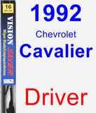 Driver Wiper Blade for 1992 Chevrolet Cavalier - Vision Saver