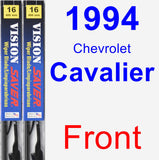Front Wiper Blade Pack for 1994 Chevrolet Cavalier - Vision Saver